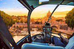 在罗马的直升机 免版税图库摄影