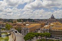 在罗马视图的意大利 库存照片