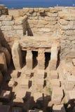 在罗马里面的古老浴房子 免版税库存图片
