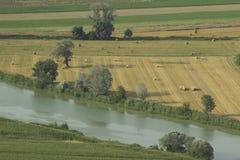 在罗马附近的台伯河谷 库存图片