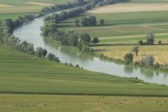在罗马附近的台伯河谷 库存照片