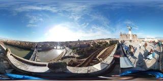 在罗马顶部,从Castel Sant `安吉洛的意大利 免版税库存照片