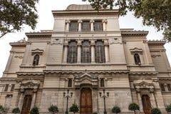 在罗马,意大利大犹太会堂的看法  库存照片