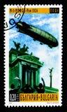 """在罗马(1926), 100年的Nobile N1 \ """"Norge \""""飞艇serie, ci 免版税库存照片"""