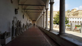 画廊在罗马 库存照片