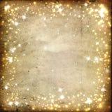 在羊皮纸背景的星  免版税库存照片