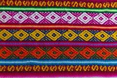 在羊魄和板料羊毛的安地斯山的纺织品 库存图片