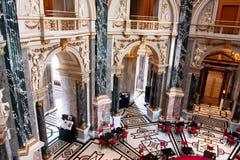 在美丽的历史美术馆里面在维也纳 库存照片