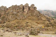 在美丽的峡谷的看法从路的边缘 库存图片