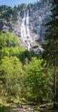 在美丽的德国` s最高的瀑布berchtesgaden国家 库存照片