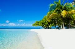在美丽的海岛上的天堂海滩 免版税库存照片