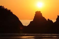在美丽的海岸 库存图片