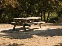 在美丽的AUTU的野餐区,N森林 免版税库存图片