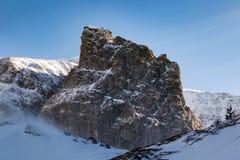 在美丽的Bucegi山的锋利的岩石,罗马尼亚 库存图片