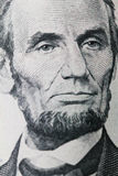 在美元的林肯画象 图库摄影