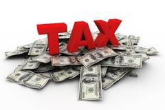 在美元货币的税 图库摄影