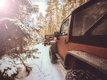 在美国人SUVs的战利品 图库摄影