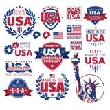 在美国制造的标签 免版税库存照片