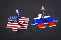 在美国和俄罗斯之间的联系 图库摄影
