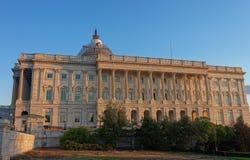 在美国国会大厦的后面看法 免版税库存图片