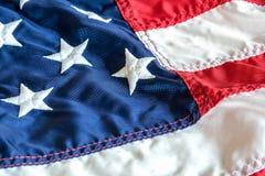 在美国国旗的被绣的星 免版税库存照片