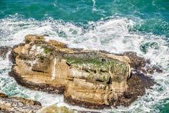 在美国太平洋海岸的沿海场面 免版税库存照片