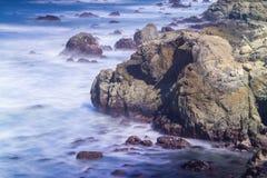 在美国太平洋海岸的沿海场面 库存照片