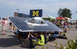 在美国太阳挑战的伯克利太阳汽车 图库摄影