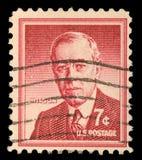 在美国打印的邮票显示伍德罗・威尔逊 免版税库存图片