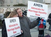 在美国最高法院的婚姻集会 图库摄影