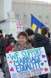 在美国最高法院的婚姻集会 免版税库存照片