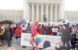 在美国最高法院的婚姻集会 库存照片