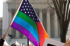 在美国最高法院的婚姻集会 免版税图库摄影