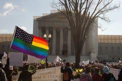 在美国最高法院的婚姻集会 库存图片