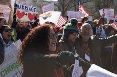 在美国最高法院的婚姻集会 免版税库存图片