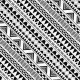 在美国本地人的对角几何样式 免版税库存图片
