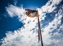 在美国独立纪念日的美国国旗 免版税库存图片