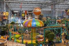 在美国的购物中心的里面Nickelodeon宇宙在布鲁明屯, M 免版税库存照片