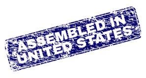 在美国装配的难看的东西构筑了被环绕的长方形邮票 皇族释放例证