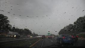 在美国高速公路的暴雨 影视素材