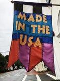 在美国`做的商业旗子` 库存图片