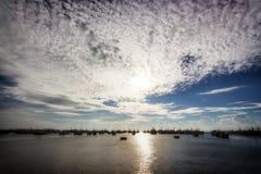 在美奈,越南的日落 图库摄影