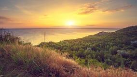 在美好的海景的时间间隔日落 影视素材