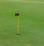 在美好的高尔夫球场的出色的意见 库存照片