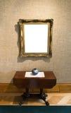 在美术画廊的空白的绘画 免版税图库摄影