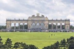 在美泉宫,维也纳,奥地利里面的Gloriette 免版税库存照片