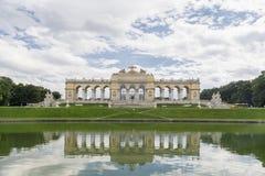 在美泉宫,维也纳,奥地利里面的Gloriette 图库摄影