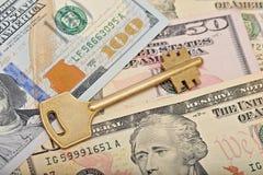 在美金的钥匙 免版税库存照片