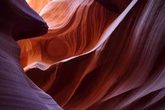 在羚羊峡谷的眼睛 库存照片
