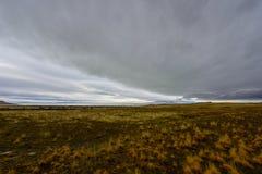 在羚羊海岛的多云天 库存图片
